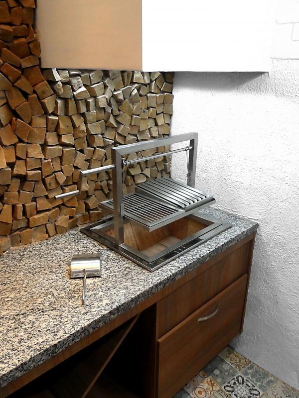 Churrasqueira moderna para apartamento